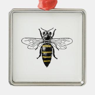 Preppy Heraldic Vintage Bee #2 Coat of Arms C Metal Ornament