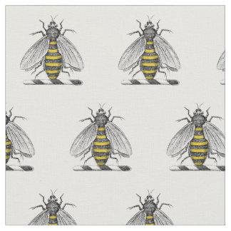 Preppy Heraldic Vintage Bee Coat of Arms Emblem C Fabric