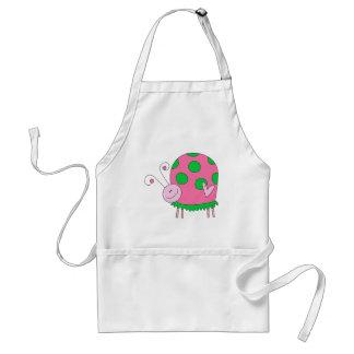 Preppy Lil Pink and Green Ladybug Standard Apron
