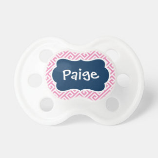 Preppy Monogram Baby Pacifier