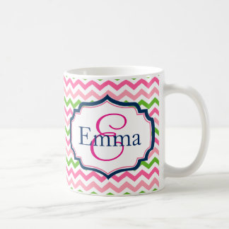Preppy Monogram Coffee Mug