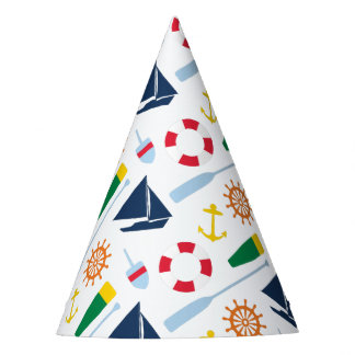 Preppy Nautical Birthday Party Party Hat