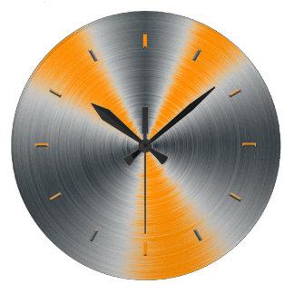 Preppy Orange Tone Color Matching Large Clock
