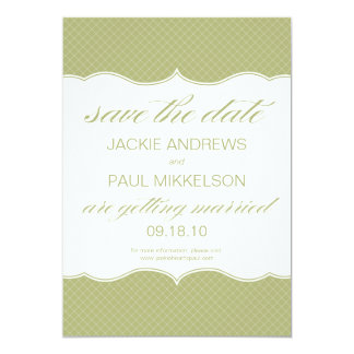 Preppy Pattern Save the Date Card