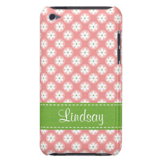 Preppy Pink and Green Daisy iPod Touch Case