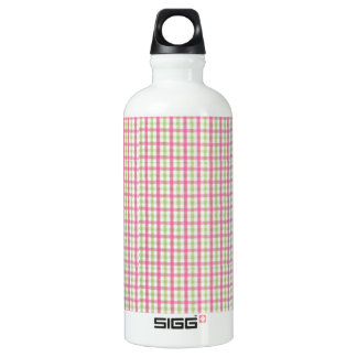 Preppy Pink and Green Plaid SIGG Traveller 0.6L Water Bottle