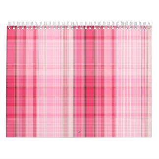 Preppy Pink Plaid Blush Madras Candy Pink Classic Wall Calendars