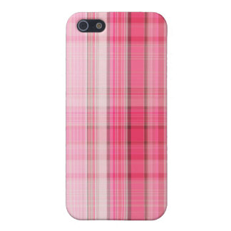 Preppy Pink Plaid Blush Madras Candy Pink Classic iPhone 5 Covers