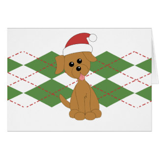 Preppy Puppy Christmas Card