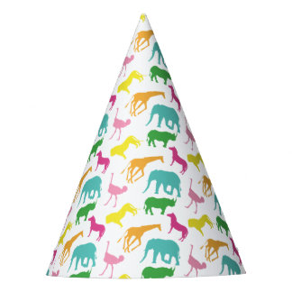 Preppy Safari Animal Girl Birthday Party Hats