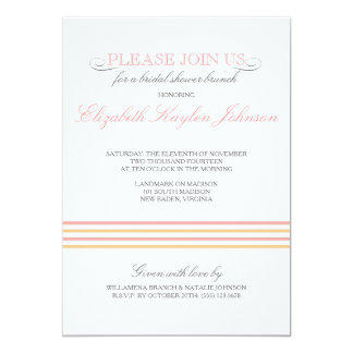 Preppy Stripe Bridal Shower Invitation