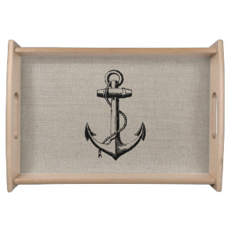 Preppy Vintage Anchor Serving Tray