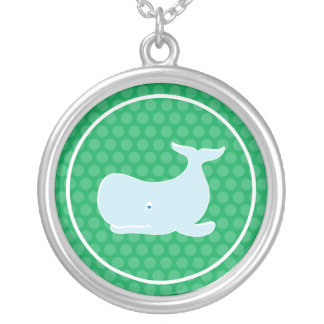 Preppy Whale Silver Plated Necklace