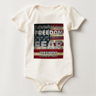 PRES43 TYRANTS FEAR BABY BODYSUIT