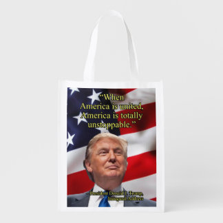 PRES45 AMERICA UNITED REUSABLE GROCERY BAG