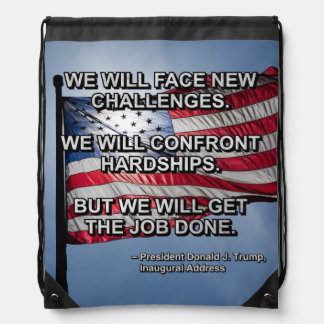 PRES45 FACE CHALLENGES DRAWSTRING BAG