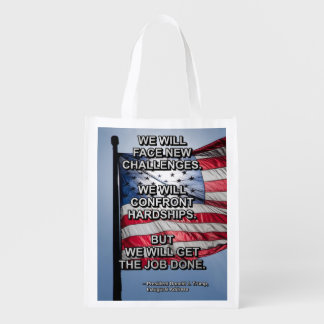 PRES45 FACE CHALLENGES REUSABLE GROCERY BAG