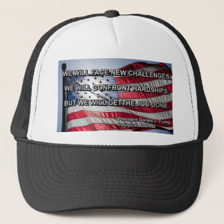 PRES45 FACE CHALLENGES TRUCKER HAT