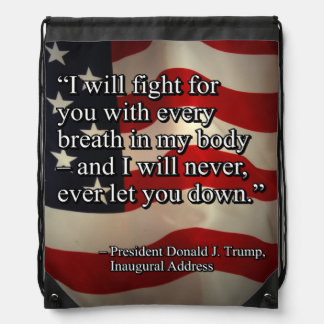 PRES45 FIGHT FOR YOU DRAWSTRING BAG