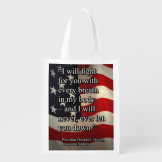 PRES45 FIGHT FOR YOU REUSABLE GROCERY BAG