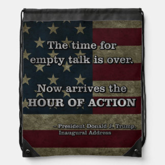PRES45 HOUR OF ACTION DRAWSTRING BAG