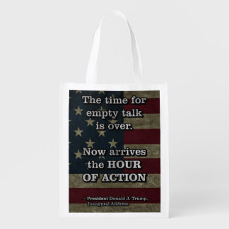 PRES45 HOUR OF ACTION REUSABLE GROCERY BAG