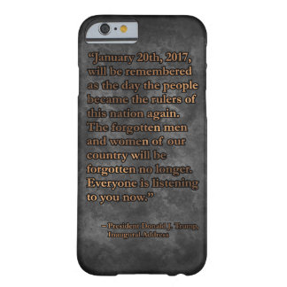 PRES45 JANUARY 20TH BARELY THERE iPhone 6 CASE
