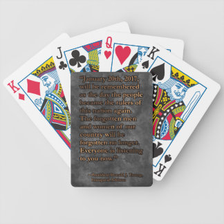 PRES45 JANUARY 20TH BICYCLE PLAYING CARDS