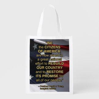 PRES45 NATIONAL EFFORT REUSABLE GROCERY BAG