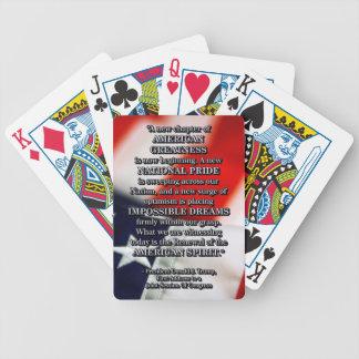 PRES45 RENEWAL OF SPIRIT BICYCLE PLAYING CARDS