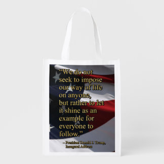 PRES45 SHINE AS EXAMPLE REUSABLE GROCERY BAG