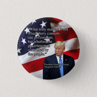 PRES45 WHAT TRULY MATTERS 3 CM ROUND BADGE