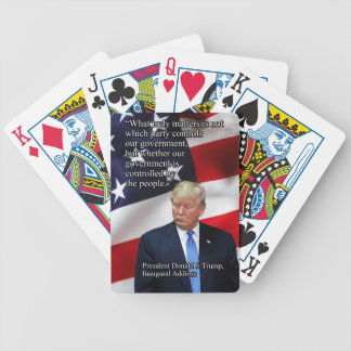 PRES45 WHAT TRULY MATTERS BICYCLE PLAYING CARDS