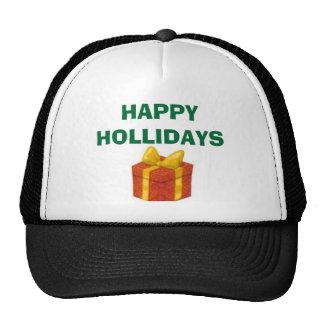 presant, HAPPY HOLLIDAYS Mesh Hats