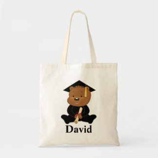 Preschool Graduate personalized bear Gift Idea Tote Bag