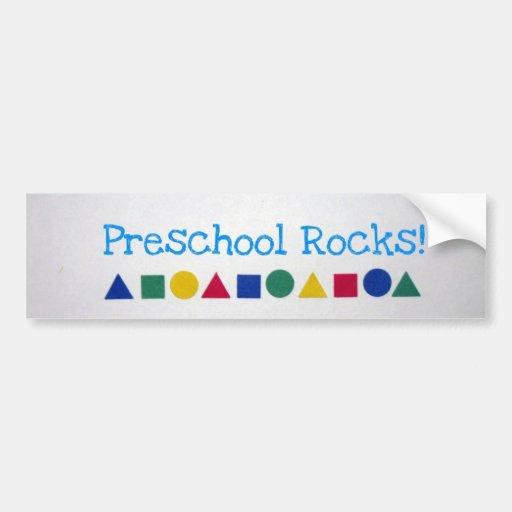 Preschool Rocks! Bumper Sticker