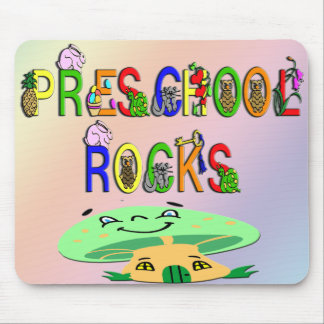 Preschool Rocks Mushroom Mouse Pad
