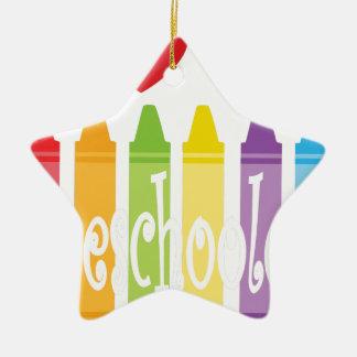 preschool teacher2 ceramic ornament