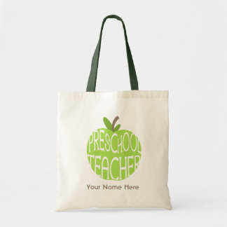 Preschool Teacher Bag - Green Apple