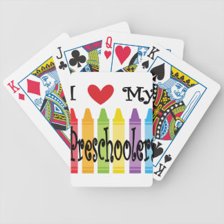 preschool teacher bicycle playing cards