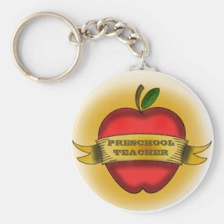 Preschool Teacher Keychain - Vintage Apple Tattoo