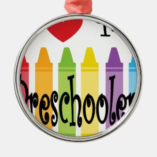 preschool teacher metal ornament