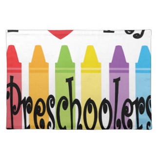 preschool teacher placemat