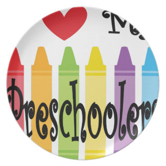 preschool teacher plate