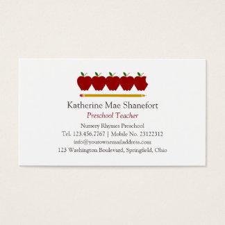 Preschool Teacher Professional Business Card