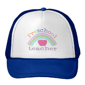 Preschool Teacher Rainbow Cap