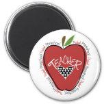 Preschool Teacher Red Apple Fridge Magnet
