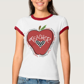 Preschool Teacher Red Apple Shirt