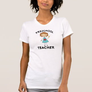 Preschool Teacher Stick Figure Gift T-Shirt
