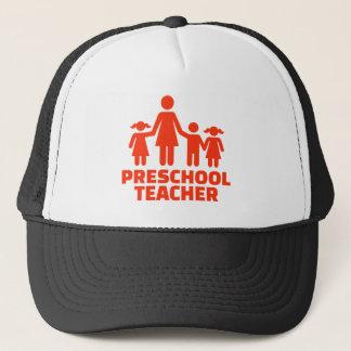 Preschool teacher trucker hat